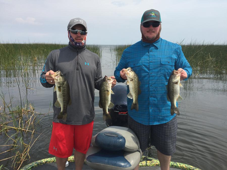 April 1 april 2 2017 lake okeechobee bass fishing for Bass fishing report
