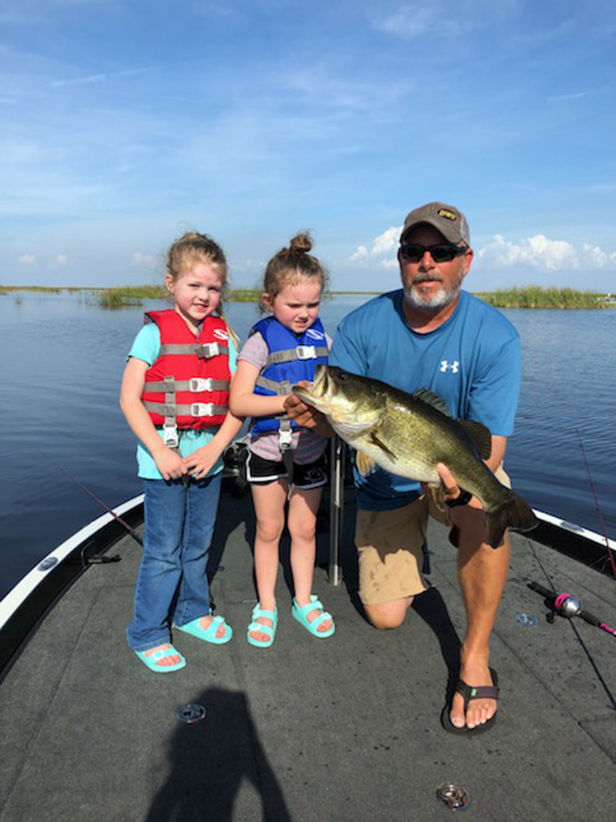 e37aa04210f ... is nothing better than Captain Rob Holley fishing with his adorable  granddaughters and daughter. Here is a picture of just one of the bass they  caught.